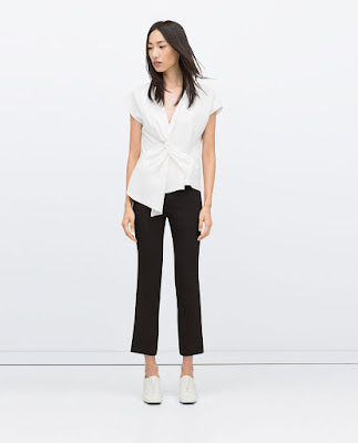 Zara Draped Studio Top
