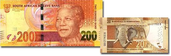 Dinheiro do mundo - África do Sul - Rand