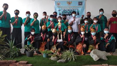 Atlet Pencak Silat Rayon PSHT Desa Pisangan Jaya Raih Juara  Umum  pada Krida Tanding