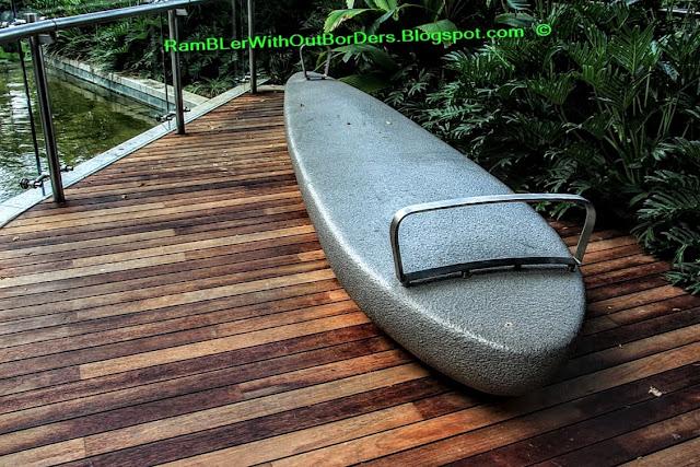 Stone bench, Sandcrawler Building, One-North, Singapore