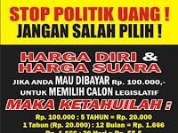 Download Contoh Spanduk Tolak Politik Uang Format CDR