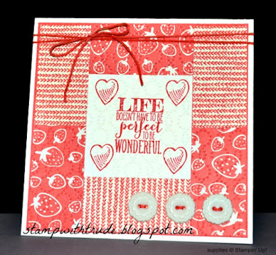 Perfect Pennants, Stampin Up, Trude Thoman, http://stampwithtrude.blogspot.com , Tuesday Tutorial, greeting card