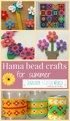 Hama bead crafts for summer