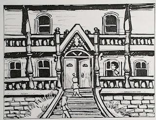 Diseño dibujos Maniac Mansion