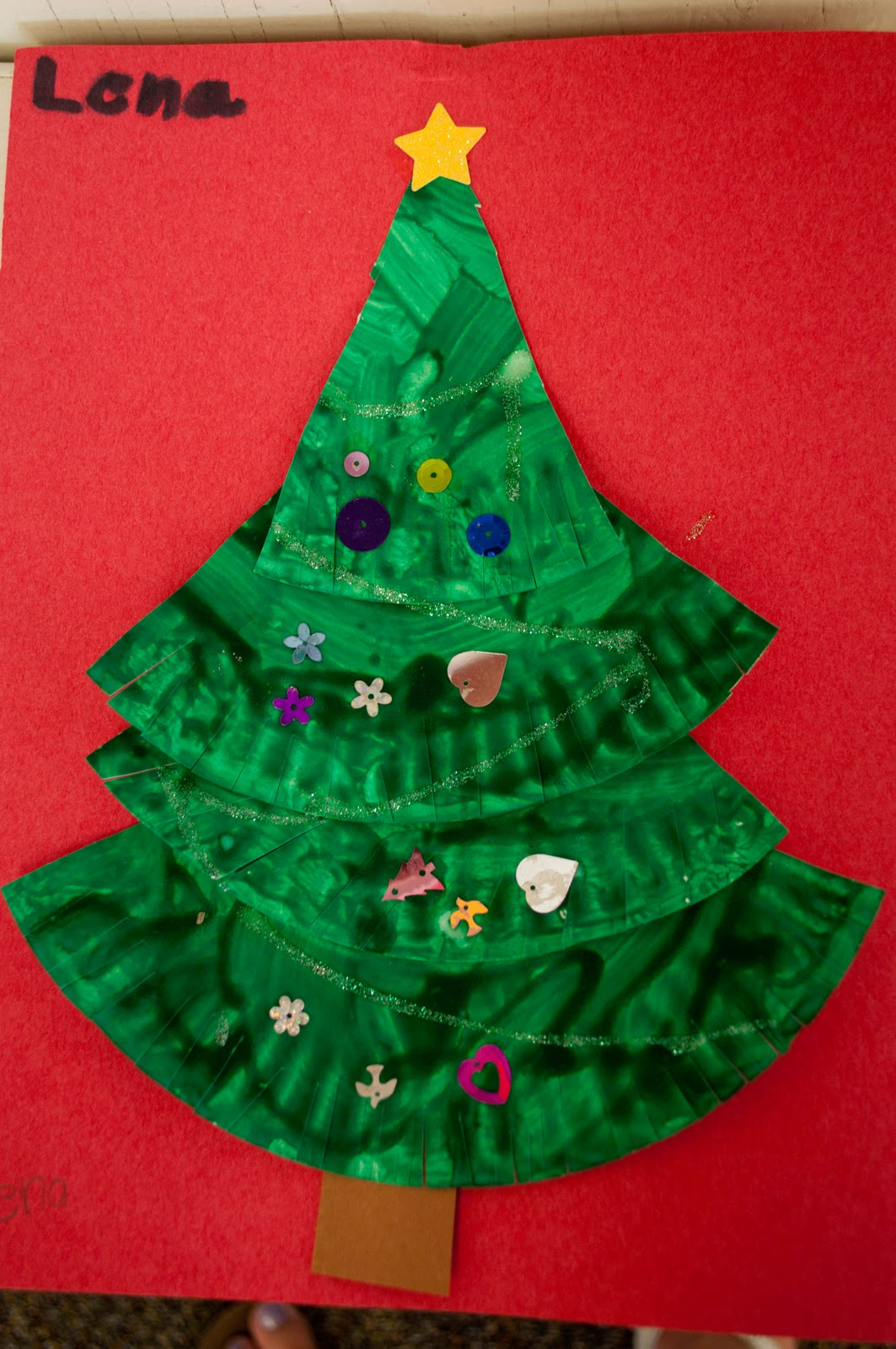 Mrs Ricca S Kindergarten Christmas Tree Craft