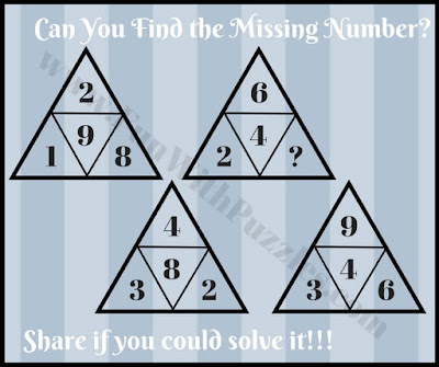 Tough free math triangle puzzle question