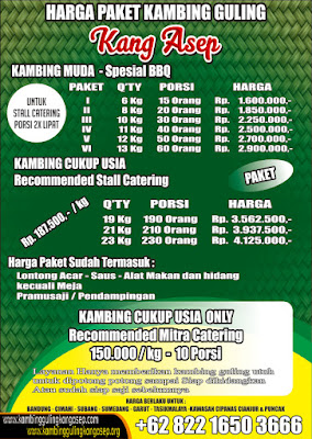 harga Paket Kambing Guling di Bandung