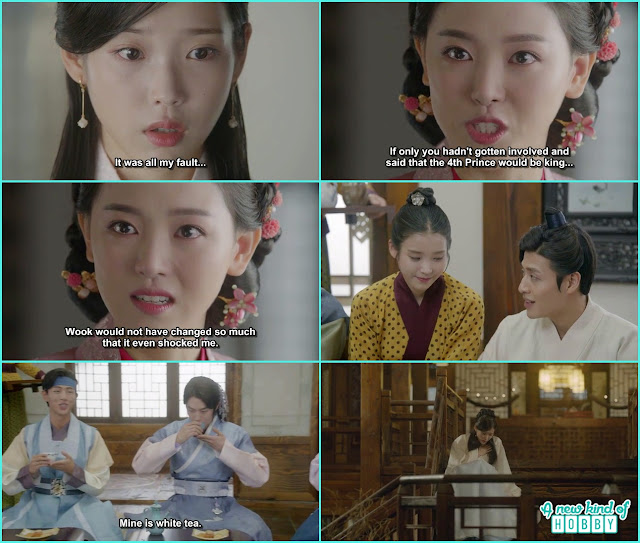 yeon hwa then told hae soo wook change because of her and do all thing he done never before  - Moon Lovers Scarlet Heart Ryeo - Episode 19