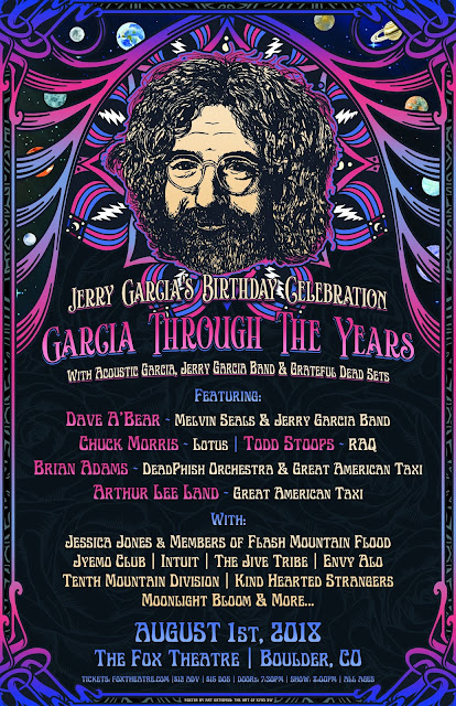 "Jerry Garcia's Birthday Celebration ""Garcia Through The Years"" at the Fox Theatre"