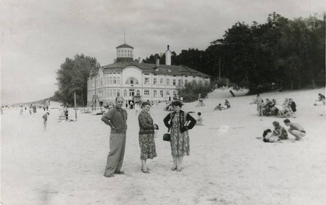 "1960-е годы. Юрмала. Майори. На втором плане курортная поликлиника ""Rīgas Jūrmala""."