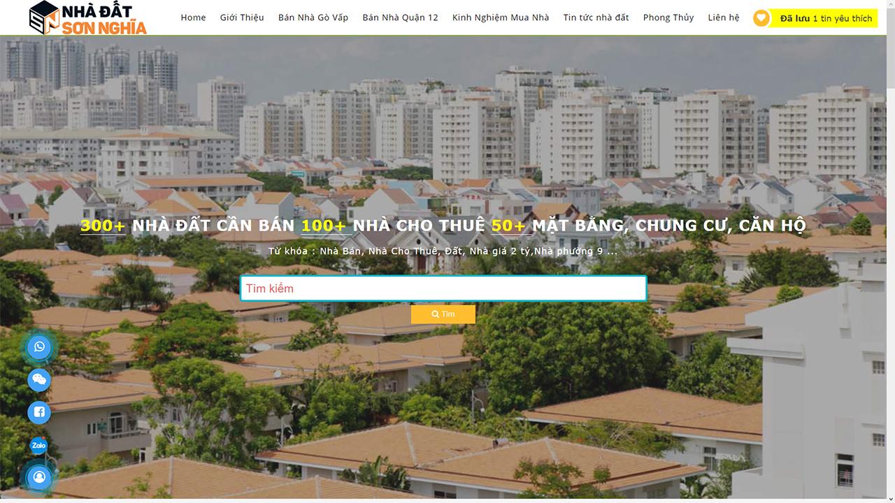 Website www.nhadatsonnghia.com