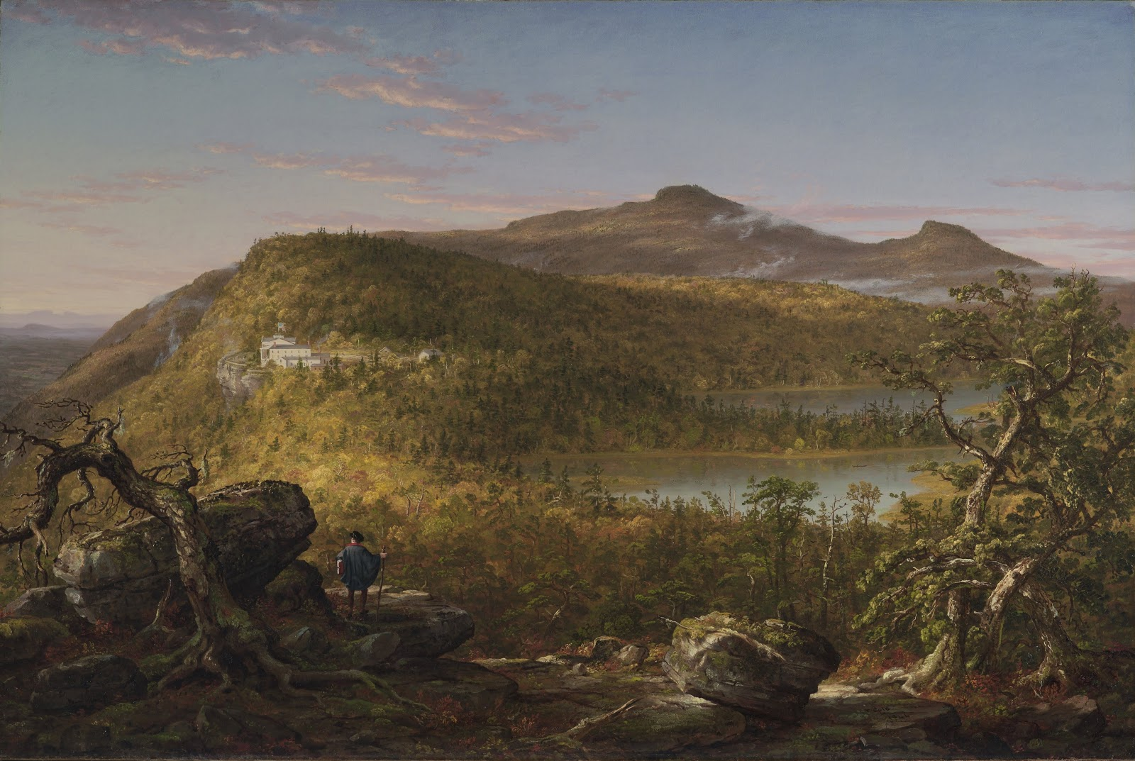 Thomas Cole A View of the Two Lakes and Mountain House Catskill Mountains Morning   rooklyn Museum