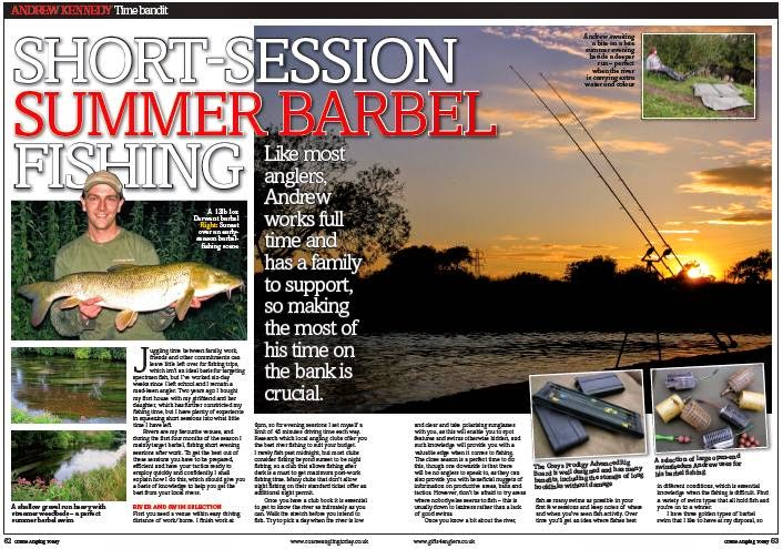 Andrew Kennedy's Barbel Fishing Article in Coarse Angling Today