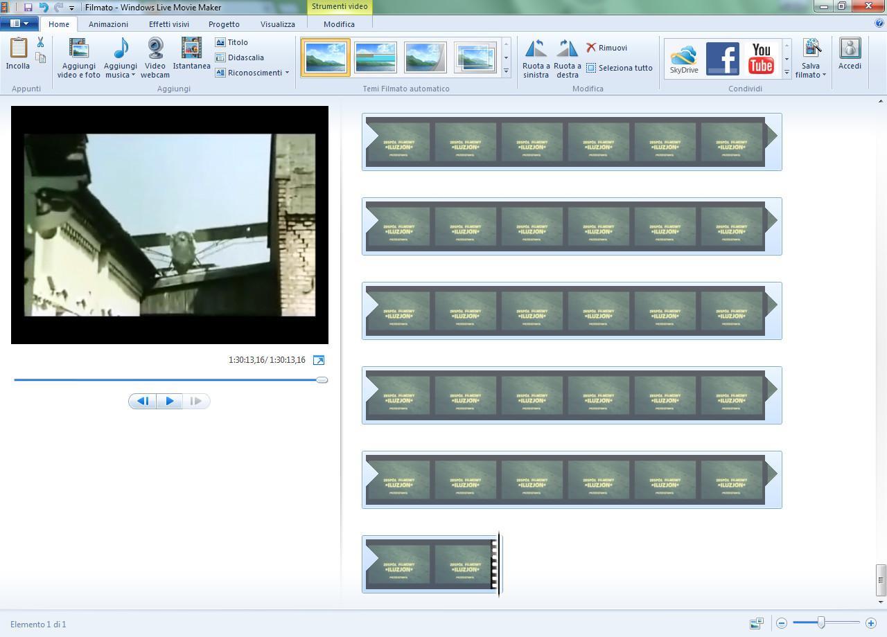 Cambiare colore sfondo movie maker