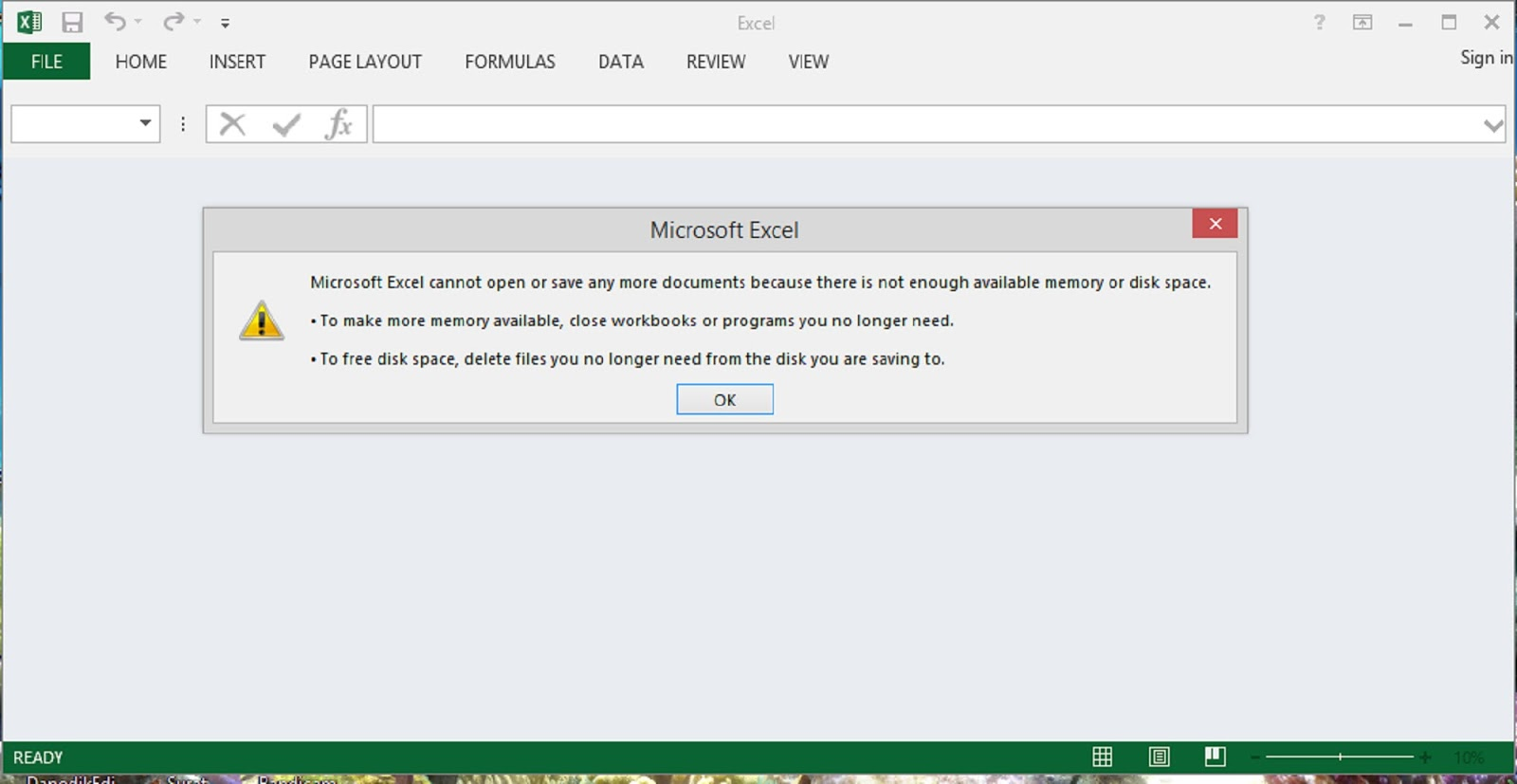 How to Resolve Excel Out of Memory Error ~ Repair Ms Excel files