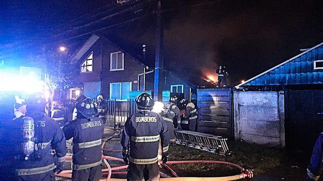 Osorno: Incendio afectó vivienda del sector de Rahue Alto