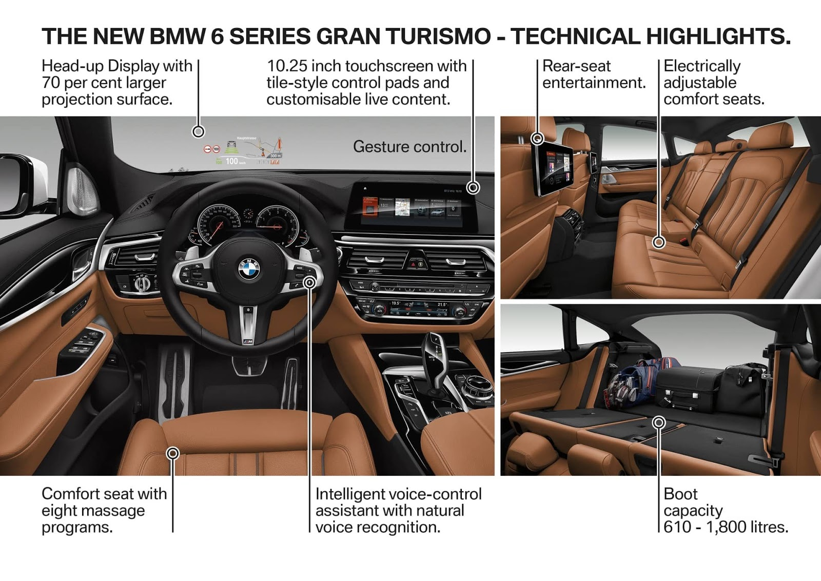 immagini e schemi tecnologie bmw serie 6 gt