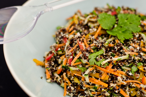 Healthy Black Quinoa Salad.