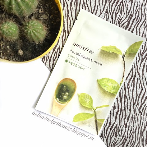 Innisfree It's Real Squeeze Mask - Green Tea | REVIEW