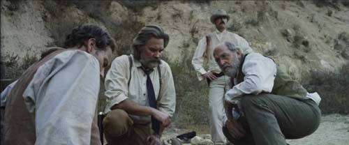 Patrick Wilson, Kurt Russell, Matthew Fox, Richard Jenkins in Bone Tomahawk
