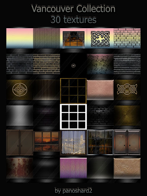 TEXTURES IMVU FOR SALE: Vancouver Collection 30 textures for imvu