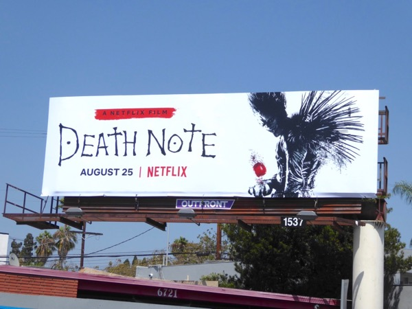 Death Note Netflix film billboard