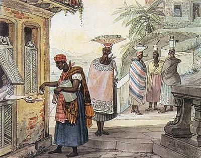 Café Torrado - Debret, Jean-Baptiste  ~ Pinturas do Brasil colonial