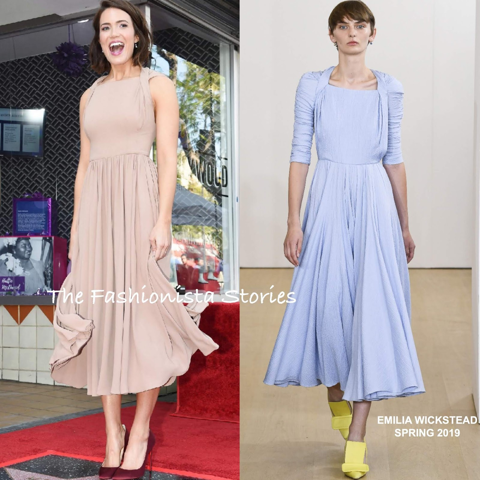 620dfd058ef3 Mandy Moore in Emilia Wickstead at her Hollywood Walk of Fame Star Ceremony