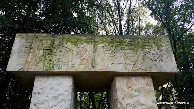 Warszawa Warsaw Śródmieście pomniki warszawskie Armia Krajowa Zgrupowanie Kryska Czerniaków
