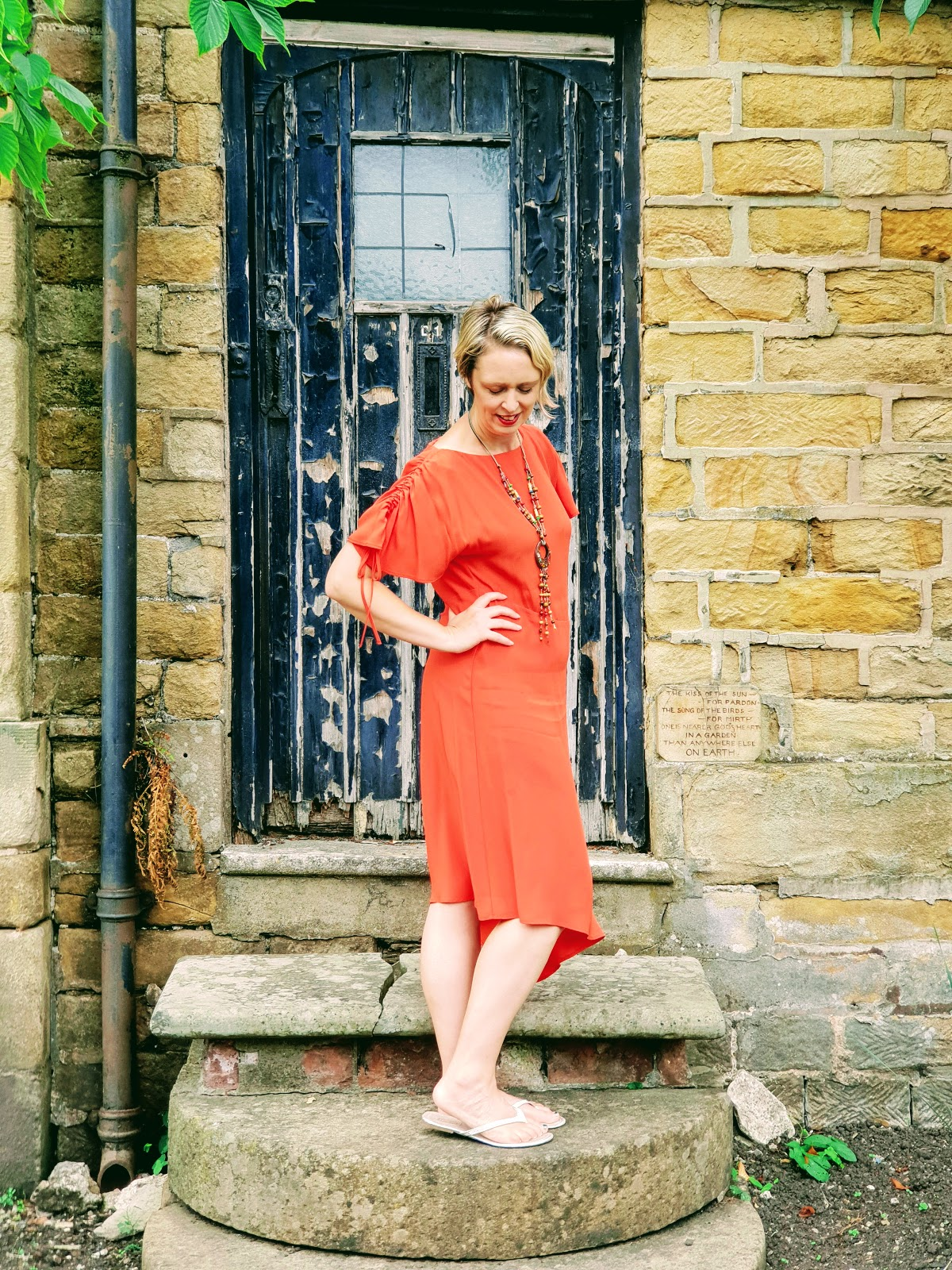 My Favourite Orange Dress: Over 40 Style