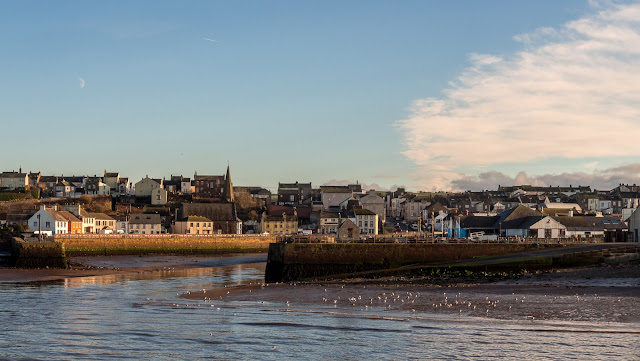 Photo of the entrance to Maryport Harbour