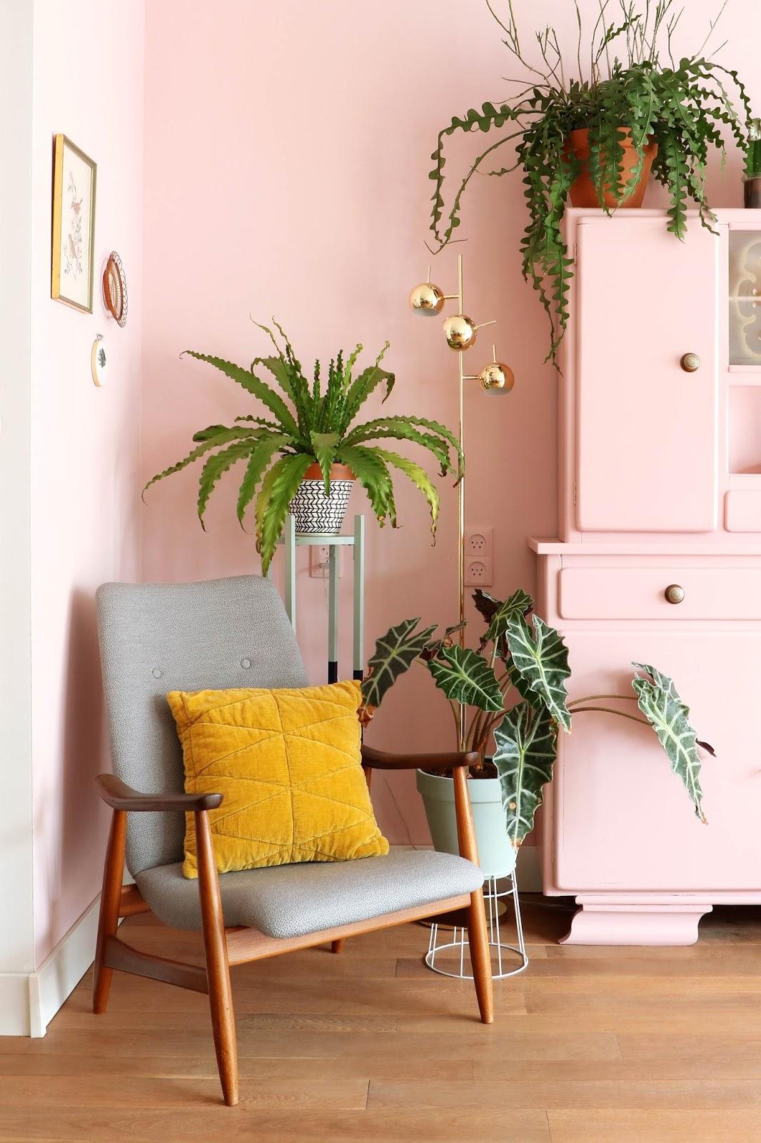 decoración estilo ecléctico y plantas