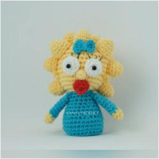 patron amigurumi Maggie Simpson canal crochet