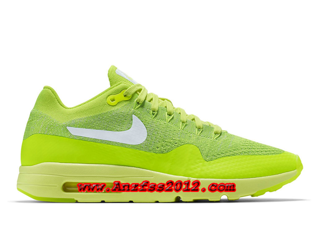 sports shoes fd269 60241 Nike Air Max 1 Ultra Flyknit Volt 843384-701Couleur:Volt/Vert  électrique/Blanc