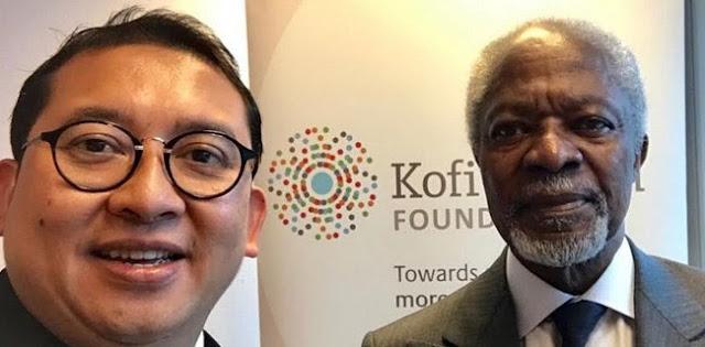 Fadli Zon Bahas Rohingya Dengan Kofi Annan Di Swiss