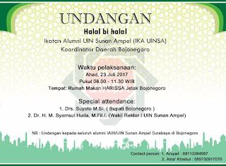 IKA UIN Sunan Ampel Kabupaten Bojonegoro Bakal Gelar Halal bi Halal