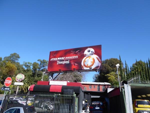 BB8 Star Wars Awakens Disneyland billboard