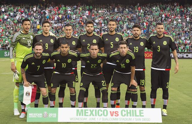 Formación de México ante Chile, amistoso disputado el 1 de junio de 2016