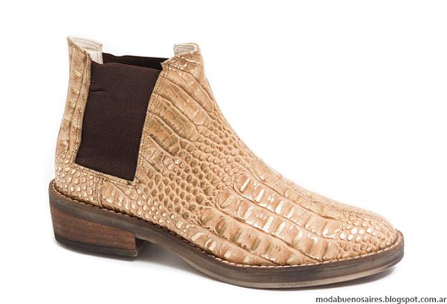 Botas invierno 2016 reptil Traza Calzados. Moda invierno 2016 botas.