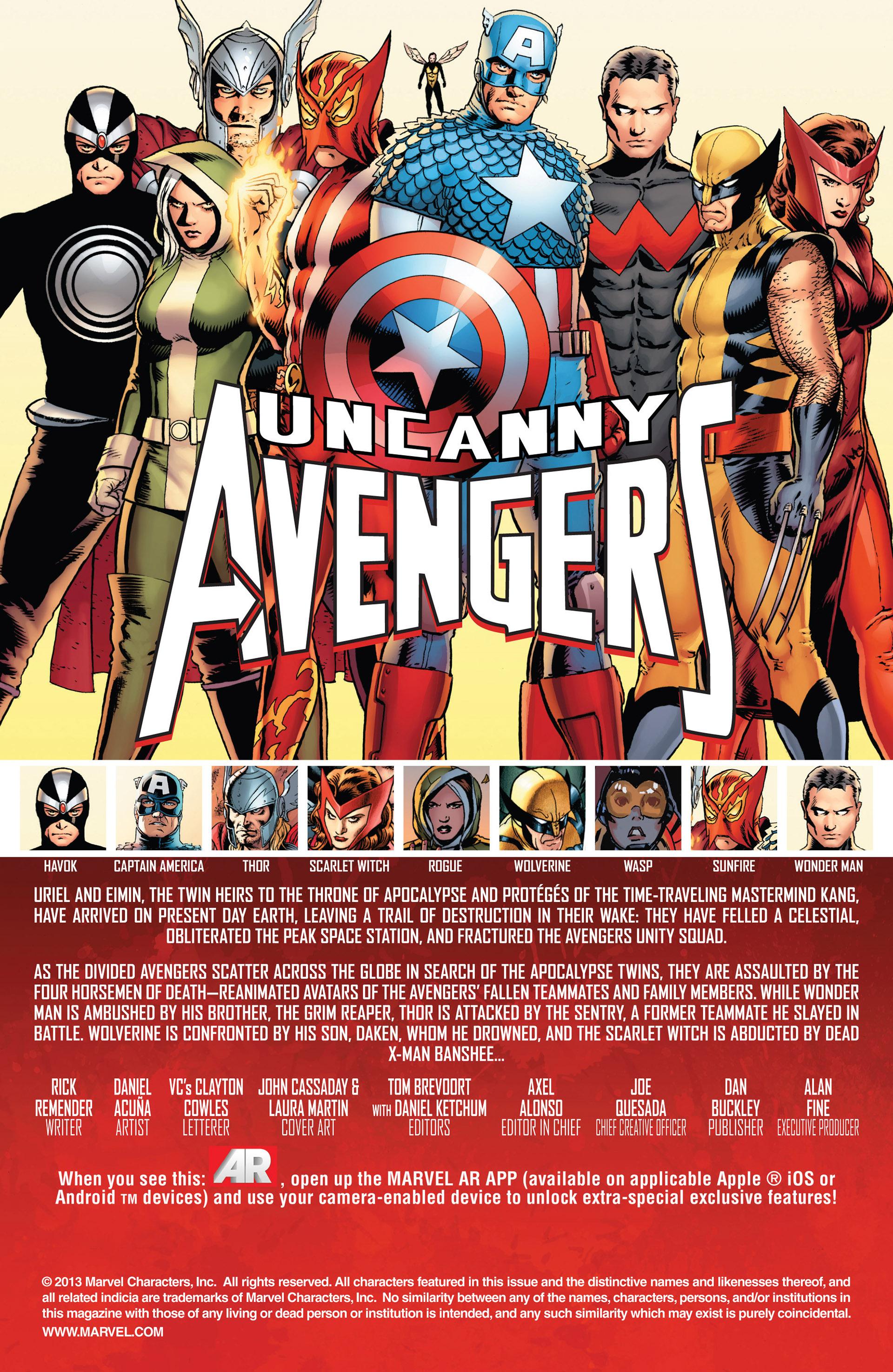 Read online Uncanny Avengers (2012) comic -  Issue #11 - 2