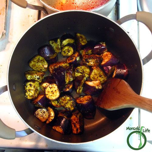 Morsels of Life - Eggplant in Spicy Garlic Sauce Step 5 - Add in remaining materials.