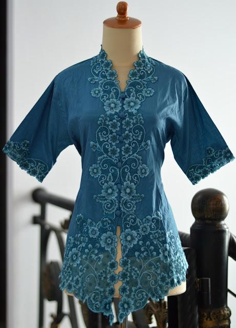 Baju Kebaya Encim lengan pendek bordir warna modern pesta wisuda baru