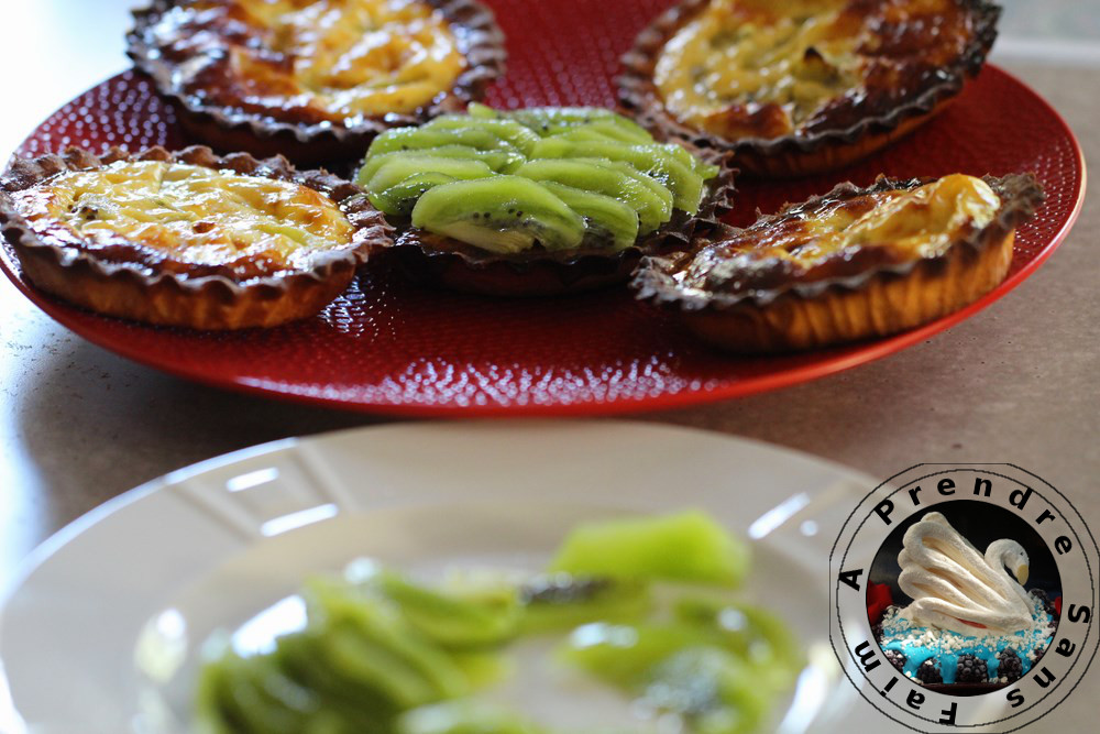 Tartelettes kiwis et noix de coco (pas à pas en photos)