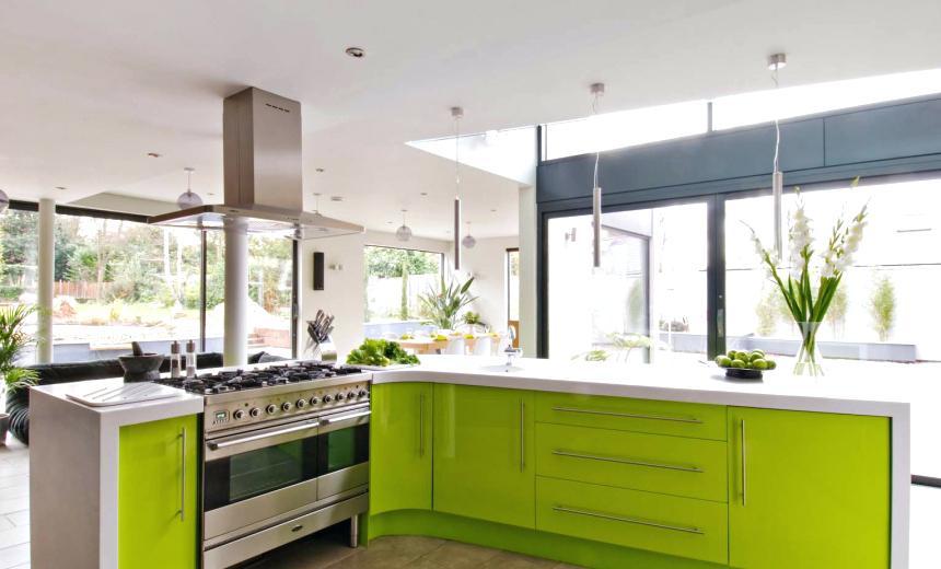70 Desain Dapur Cantik Bernuansa Hijau  Rumahku Unik
