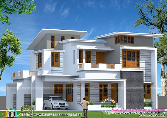 1800 square feet slanting roof mix home home design simple for 1800 sq ft indian house plans