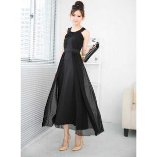 Contoh Dress Panjang Tanpa Lengan 2015