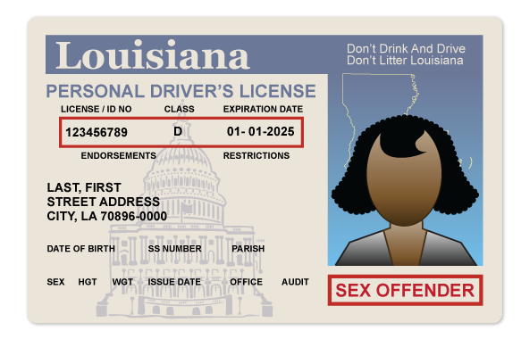 State of louisiana sex offender list