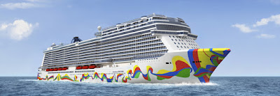 Norwegian Cruise Line Unveils the Hull Art on their Newest Ship the Norwegian Encore