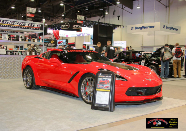The 2014 C7 Corvette features the Lingenfelter engine package using the Edelbrock TV82300 e-Force supercharger.