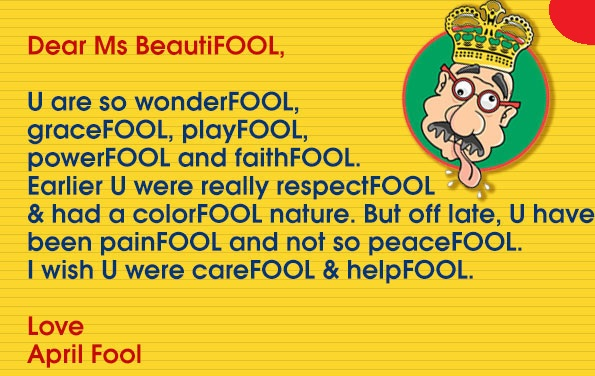 April Fool's Day Quotes Wishes Message & Funny SMS For BoyfriendGirlfriend & Best Friends